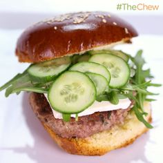Michael Symon's Lamb Burger with Arugula, Feta, and Cucumbers! #TheChew