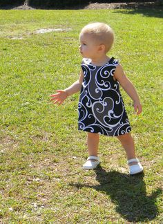 Black and White Jumper Dresses Sizes 6/9 month and 12 by InletKids, $30.00