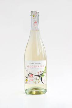 Very pretty Proserpina sparkling wine label PD Wine Label Design, Bottle Design, Champagne Brands, Wine Bottle Art, Wine Brands, Wine Packaging, Sparkling Wine, Wine And Spirits, Branding