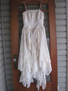 Cream wedding dress tattered wedding dress fairy wedding gown