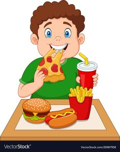 Fat Boy Eating Junk Food Stock Vector (royalty Free) 1019366668 image ideas from Food Ideas Food Cartoon, Cartoon Pics, Cartoon Clip, Cartoon Drawings, Guy Drawing, Drawing For Kids, Body Preschool, Kids Stationery, Happy Children's Day