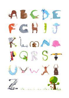 Animal Alphabet Art Print by Sandra Ortuño | Society6
