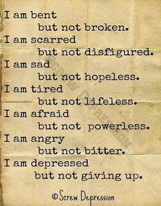 """I Am...."" - Screw Depression"