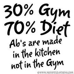 abs are made in the kitchen, not the gym.