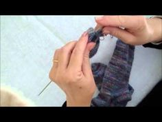CHAUSSETTES FACILES TRICOT TUTO Marie Hélène - YouTube Knitting Socks, Knitted Hats, Magic Loop, Learn How To Knit, Knit In The Round, Knitting Videos, Knit Crochet, Sewing, Youtube