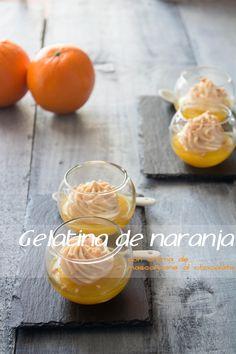 KOOKING: Gelatina de naranja con crema de mascarpone al chocolate