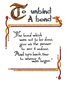 Charmed Series Book of Shadows: To Unbind a Bond » Metaphysic Study