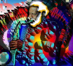 Sonny Rollins Sonny Rollins, R&b Artists, Booker T, Logo Design, Graphic Design, Jazz Blues, Tea Cup Set, Day For Night, Book Making