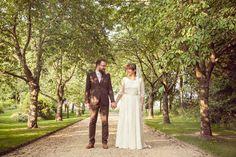 Halfpenny London Elegance and a Pretty Floral Crown for a South Farm Wedding   Love My Dress® UK Wedding Blog