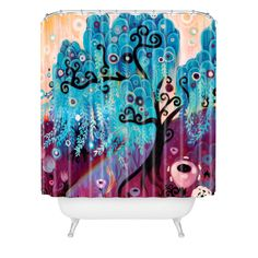 Natasha Wescoat Willow Blue Shower Curtain | DENY Designs Home Accessories
