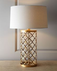 Quatrefoil Drum Lamp by Regina-Andrew Design at Horchow. Love this.