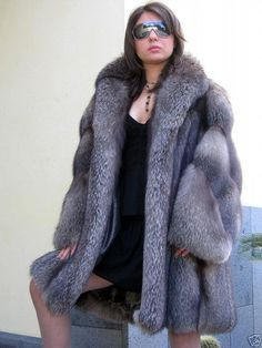 indigo fox fur coat