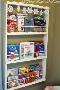 Cute little bookcase  Might need to try this one.