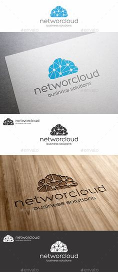 Network Cloud Logo - Cloud Connection – Network Logo – This logo design for cloud and social services company. It's perfect for cloud computing providers, virtual servers or other shared resources. A logo that can be used in social networks, team, groups, web designers, programmers, website and app development, game developers and graphic design, photography studio, is excellent logo template highly suitable for blog, media, software company or anything related to computer and digital.