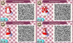 Animal Crossing: New Leaf: Red Riding Hood Outfit QR Code for Animal Crossing: New Leaf