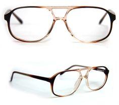 4bbb6a2a50b Vintage AVIATORS Men Women COGNAC Fade Bill by Savon Eyewear Translucent  Plastic Frames Demo Frames No Lens NOS