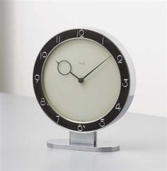 Heinrich Moller; Desk Clock for Kienzle, c1935.