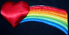 """Vintage 1980s 15"""" Satin Heart Rainbow Brite Wall Hanging. A sold Etsy listing. I wish I had sewing skills to make one."""