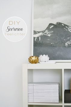 DIY candle holders made with plastic spoons