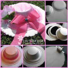 Sombrero para fiesta con platos de carton tea party hat, paper plates