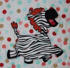 Zebra Applique Block by MsPDesignsUSA - Craftsy