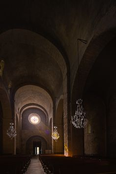 Afternoon light, Abbatiale Sainte-Marie, Quarante (Hérault) Photo by Dennis Aubrey