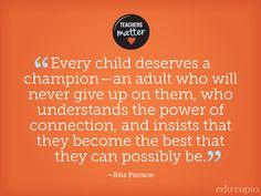 Thanks for being that champion. #TeachersMatter