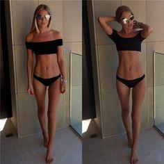 Stylish Black Fashionable Swimsuit Bikini | I really love the top piece!!!