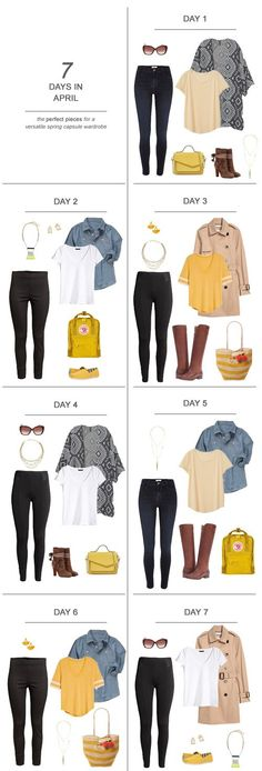 7 Days in April : The Perfect Pieces for a Versatile Winter Capsule Wardrobe #ootd #April #holidays #capsulewardrobe #sahm