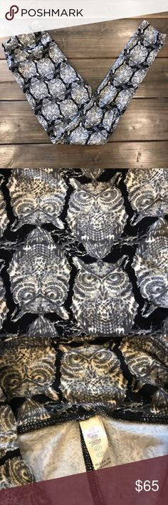 NEW OS LuLaRoe rare owl leggings!!! MAJOR unicorn alert!  Brand new, never worn, straight out of the package! Highly sought after and extremely hard to find!!! OS (2-12) from LuLaRoe. I spend hours, weeks, months looking for particular unicorns so you don't have to! Always wash your LuLaRoe leggings on cold and gentle, lay flat to dry. LuLaRoe Pants Leggings