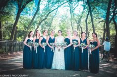 Bridal Party | Visit nkfloraldesign.com for more #nkfloraldesign #flowers #wedding #bouquets | Crane's Photography
