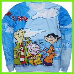 2016 New Harajuku Jumper Funny Cartoon hoodies men/women Ed, Edd n Eddy print 3d sweatshirt tops plus size S-3XL Free shipping