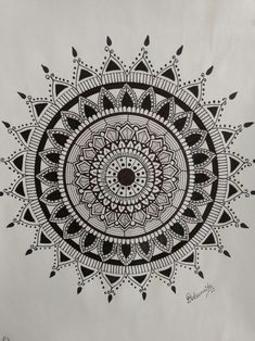 Mandala hand drawn. Mandala drawing.