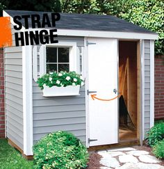 Strap hinges are an early style of hinge in which long thin strip of metal is attached to a door or gate allowing for movement. Today strap hinges are often used decoratively in cabinet hardware, garage doors, and gates.