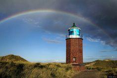 """© Blende, Uwe Lau, #Leuchtturm unter einem #Regenbogen, Thema: """"Deutschlandreise"""" #Fotowettbewerb"""