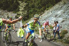 Contador and Christian JJ at the Giro d' Italia 2015