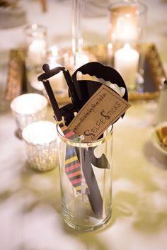 Selfie Sticks at wedding reception © Purrington Photography
