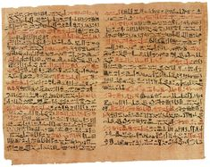 Egyptian Book of the Dead. Written in Hieratic,  a cursive simplified form of the Hieroglyphics.