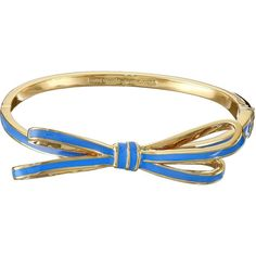 Kate Spade New York Tied Up Hinge Bangle Bracelet, Blue ($48) ❤ liked on Polyvore featuring jewelry, bracelets, blue, bracelets & bangles, bracelet jewelry, kate spade jewelry, polish jewelry and bangle jewelry