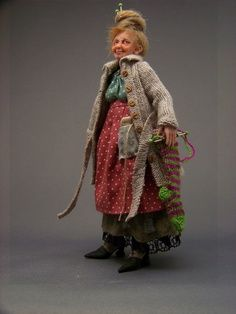 Annie Wahl :  I love this doll sculptor!  She so easily infuses her work with energy, heart, and deep personality. They need no explaining. You just want to hug them.