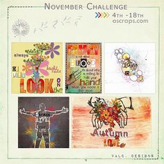 Be Inspired November Challenge |By ValC. Designs (Nov 4th-18th) - Forum :: Oscraps.com Get discount on a awesome alpha bundle