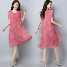 아이스 실크 쉬폰 드레스 여성 여름 2017 새로운 패션 새로운 도착 레이스 꽃 무늬 스커트 긴 부분은 통기성 얇은했다
