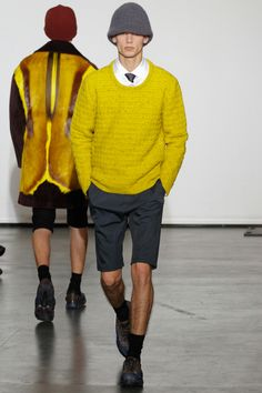 AW12 Menswear round-up 10  Raf Simons beautiful color palette and check out the back of that jacket!