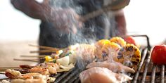 Keep calm, grill on! Safe grilling tips as your summer heats up. Barbacoa, Seafood Dishes, Seafood Recipes, Great Recipes, Favorite Recipes, Grilling Tips, Fresh Seafood, Food Safety, Calories