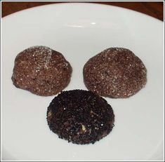 Billed as the best cookie in the world...chocolate sparkle cookies.  Picture probably doesn't do this recipe justice.