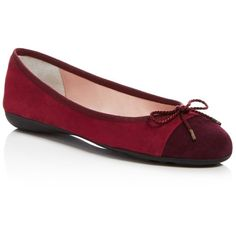 Paul Mayer Bravo Brighton Ballet Flats (525 BRL) ❤ liked on Polyvore featuring shoes, flats, ballet shoes flats, suede shoes, cap toe ballet flats, suede ballet flats and ballet pumps