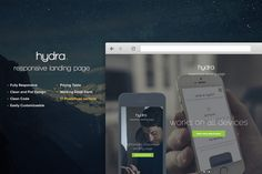 Hydra Landing Page by Nasfactor on Creative Market
