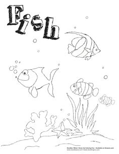 Fish coloring sheet.