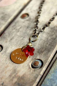 $20 love and sing stamped metal   harlowlane.etsy.com