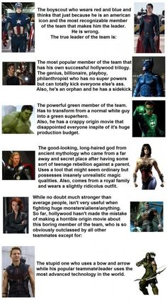 Avengers Vs Justice League. Agree with most, but not all of this. Black Widow & Legolas are cool! (Plus Avengers win all around the end ok.)
